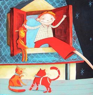Paolo il sonnambulo illustrazione