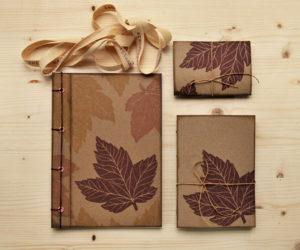 idee regalo di carta regalo acero carta riciclata Set regalo Acero set quaderni regalo