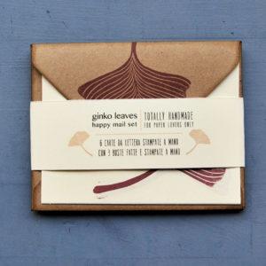 Set carte da lettera Gingko Leaves fascetta