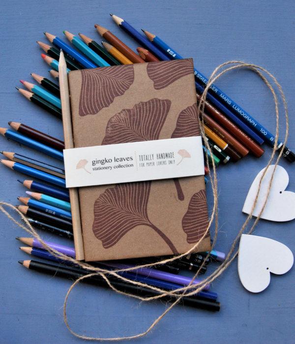 Gingko Leaves taccuini da disegno fatti a mano sketchbook artigianali