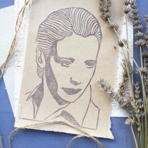 Ritratti intagliati a mano Anna Maria Ortese