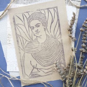 Ritratti intagliati a mano Frida Kahlo