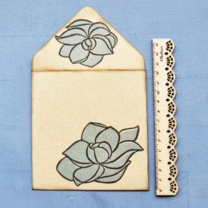 Set biglietti auguri Magnolia Blu righello 1