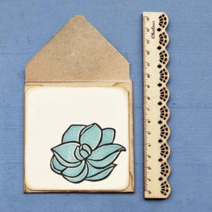 Set biglietti auguri Magnolia Blu righello 4