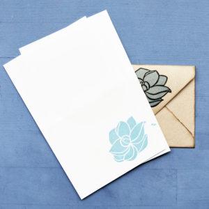 Set carte da lettera Magnolia fogli