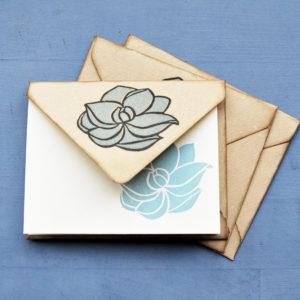 Set carte da lettera Magnolia insieme