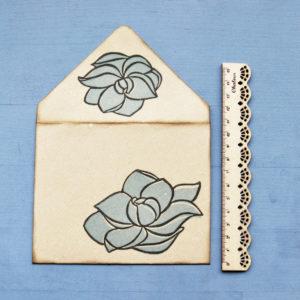 Set carte da lettera Magnolia misura
