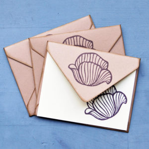 Set carte da lettera Papaveri insieme
