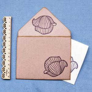 Set carte da lettera Papaveri misura