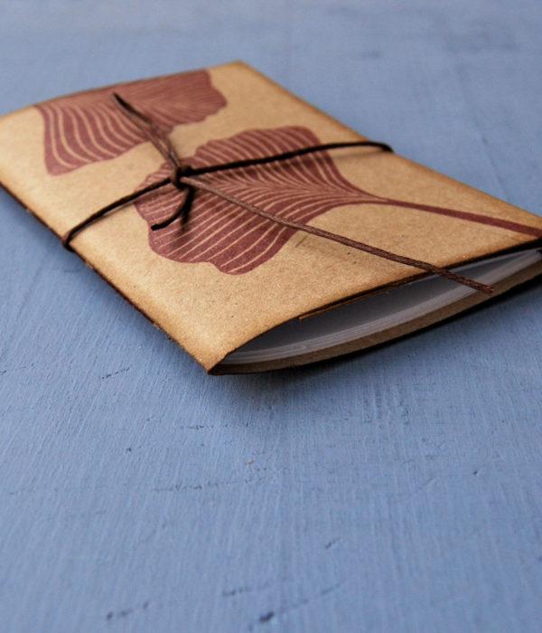Set regalo 2 quaderni Gingko Leaves obliquo
