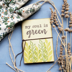 quadernetto regalo Mini quaderno My Soul is Green