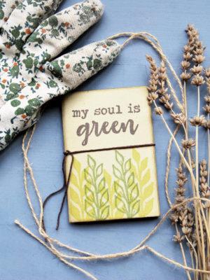 quadernetto regalo Mini quaderno My Soul is Green