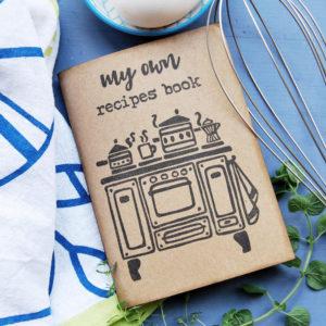 quaderni ricettari regalo, Ricettario fatto a mano