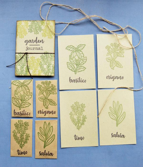 Set regalo Gardeners pack assieme stampe piante aromatiche