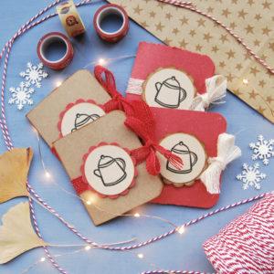 Idee regalo di carta porta bustine da tè regalo realizzato a mano