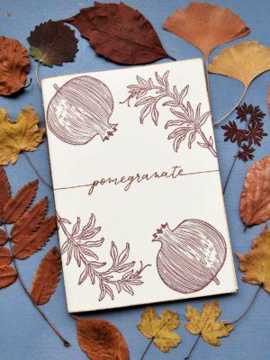 Quaderno personalizzato Melograno