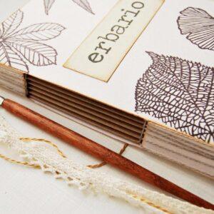 Erbario foglie, erbario artigianale foglie