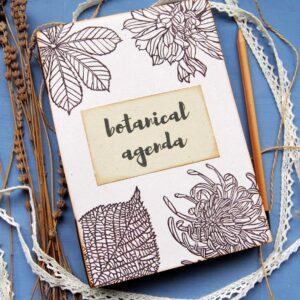 agenda botanica, agenda botanica ecosostenibile, nuove creazioni cartoleria ecosostenibile