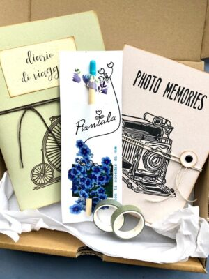 confezione regalo cartoleria viaggi